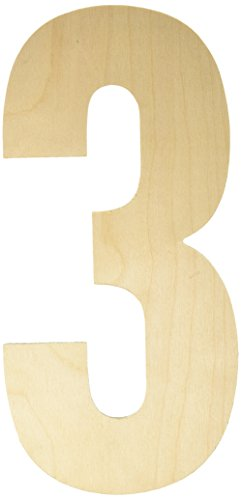 MPI Baltic Birch Collegiate Font Letters and Numbers, 13.5