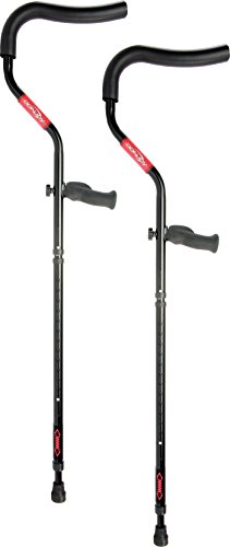 DonJoy Rebound Ergonomic Crutches: 1 Pair, Short (Height: 4' 7