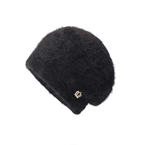 Men Women Winter Design Crown Solid Ear Protector Slouchy Berets Hat