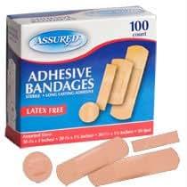 Assured Adhesive Bandages, Assorted 100-ct. Box