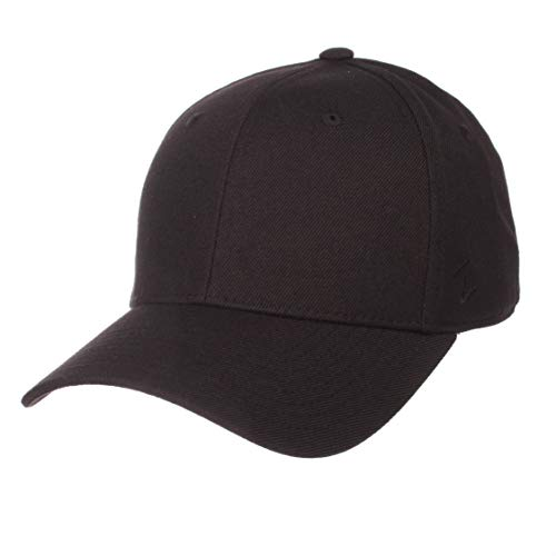 (Zephyr Mens DH Fitted Hat, Black, 7 1/8)