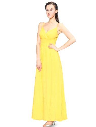 HE09937YL12, Yellow, 10US, Ever Pretty Long Summer Bridesmaid Dress 09937