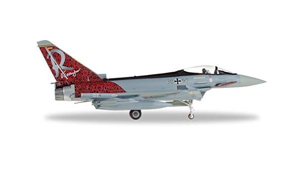 Herpa 580182 - Maqueta de avión Eurofighter Typhoon TaktLwG 71 Richthofen: Amazon.es: Juguetes y juegos