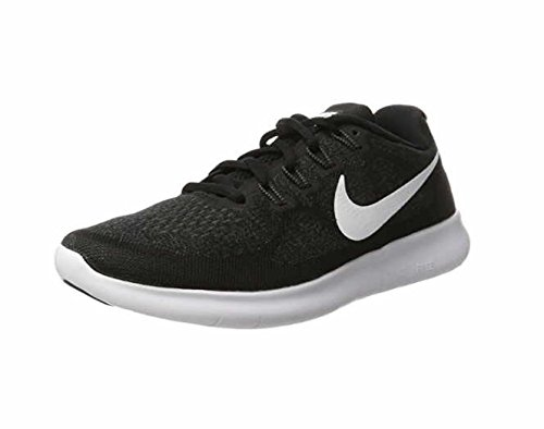 NIKE Free RN 2017 Mens Running Trainers 880839 Sneakers Shoes (UK 6 US 7 EU 40, Black White Dark Grey 001) by Nike (Image #4)