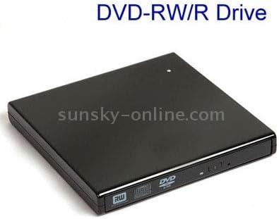 USB 2.0 Slim External DVD-RW//R Drive Grey Durable