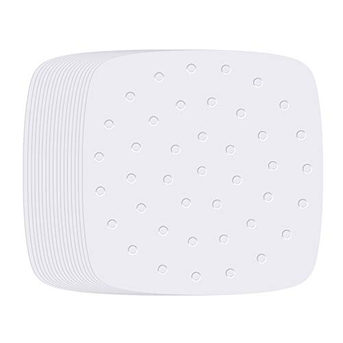 Air Fryer Liners - 8.5 Inches, 100pcs Premium Perforated Parchment Paper Compatible with Philips, Cozyna, Secura, NuWave Brio, Chefman, GoWISE USA, BLACK+DECKER, COSORI and More Air fryers