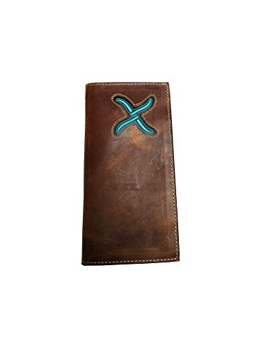 XRC Brown Turquoise Twisted 21 and Distressed X Rodeo Wallet Zfw0g