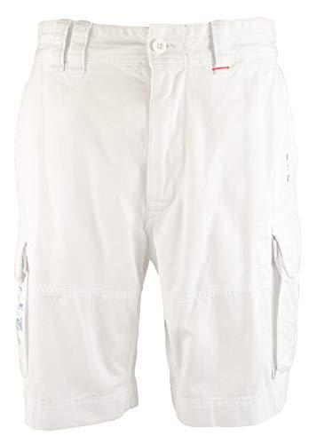 (Polo Ralph Lauren Mens Twill Flap Pockets Cargo Shorts White 32)