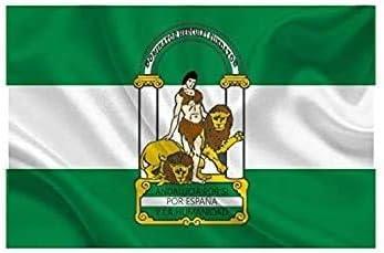 YOUBO Bandera de ANDALUCÍA 60x90cm - Bandera ANDALUZA 90 x 60cm ...