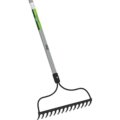 SIM SUPPLY Best Garden 14 in. Steel Bow Garden Rake (14-Tine) – 1 Each
