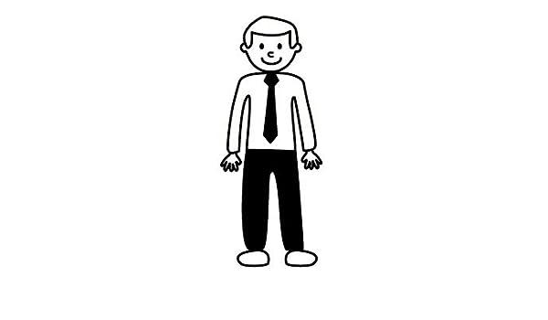 Pegatinas de familia - Hombre camisa y corbata.Orientación ...