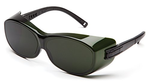 Pyramex S3550SFJ OTS Over Prescription Welding Safety Glasses, 5.0 IR Filter Lens, - Glasses 5