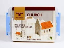 Educational Gift 430 pcs Gypsum Reusable Building kit Real Ceramic Bricks Wise Elk Toy Church Construction Set Architecture Model kit