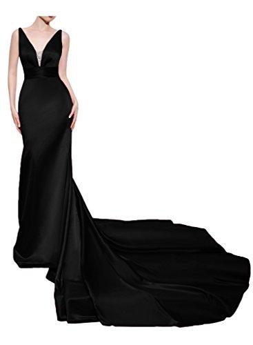 Missdressy - Vestido - cuello hálter - para mujer negro