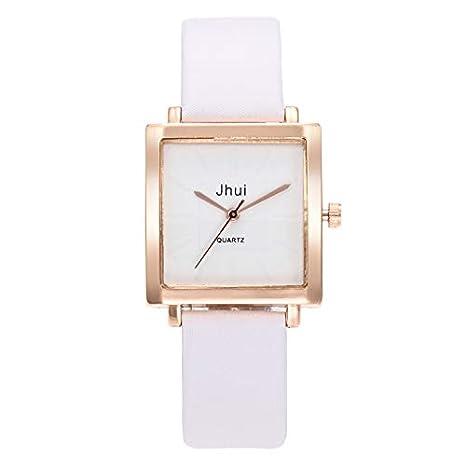 BBestseller Reloj de Pulsera,Moda Accesorios Reloj de Cuarzo Impermeable Marco Cuadrado Mirror Watches Relojes Mujeres (Blanco): Amazon.es: Relojes