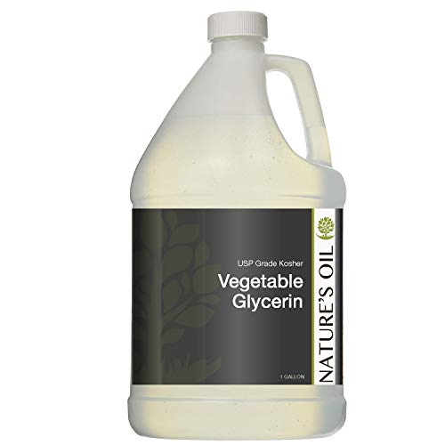 Nature's Oil (USP Grade-Kosher) Vegetable Glycerin 100% Pure (10 lbs)