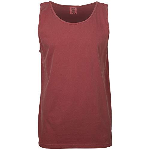- Comfort Colors Men's Adult Tank Top, Style 9360, Crimson, Medium