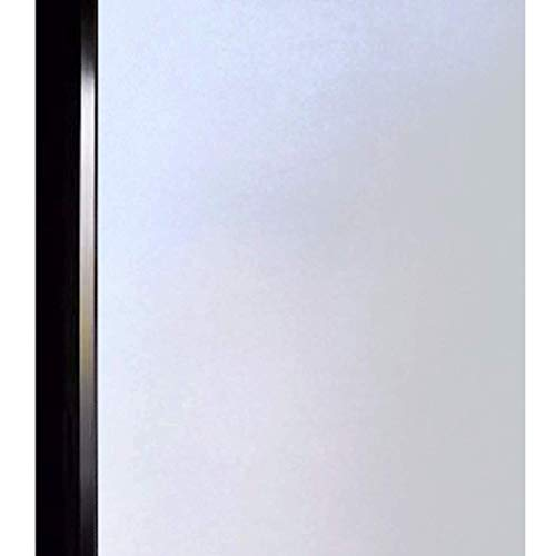 DUOFIRE Privacy Window Film Frosted Glass Film Matte White Static Cling Glass Film No Glue Anti-UV Window Sticker Non Adhesive for Privacy Office Meeting Room Bathroom Living Room 47.2in. x 78.7in.