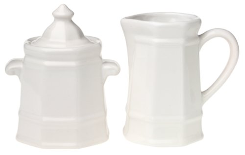 Pfaltzgraff Heritage Sugar and Creamer (Faceted Pitcher)