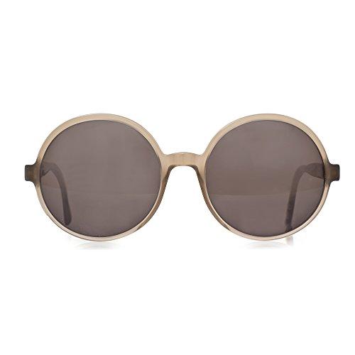Mykita Sunglasses Round Frame New Patented Germany Mod.YOLANDA Taupe Black - Frames Mykita