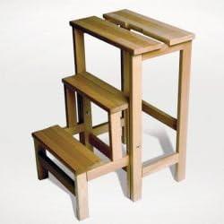 Holz Tritt- kleine Leiter Klapphocker Radius Trittleiter Buchenholz Hockerleiter