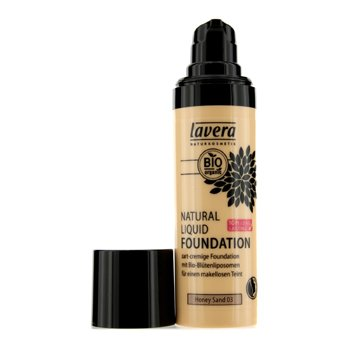 Lavera Natural Liquid Foundation (10H Long Lasting) - # 03 Honey Sand - 30ml/1oz