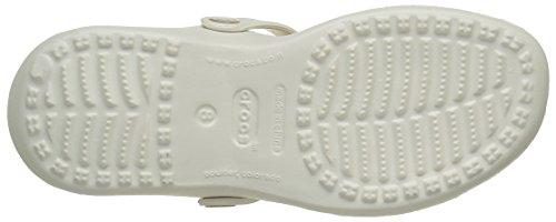 Crocs 11216 Cleo Iii - Østers / Gull (hvit) Kvinners Sandaler 3 Uk