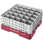 Cambro Camrack 25 Compartment 6 7/8'' Glass Rack, Cranberry (25S638416) Category: Warewashing Racks by Cambro