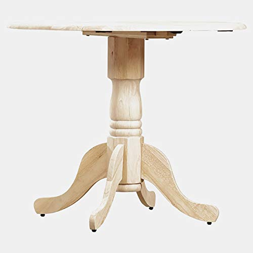 Base Dining Table - Dining Table with 2 Leaves - Unfinished ()