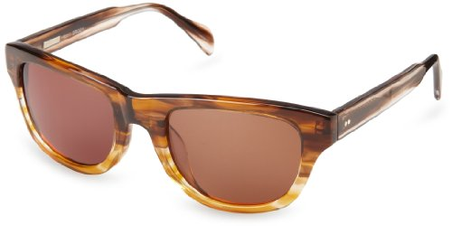 Derek Lam Brody Wrap Sunglasses, Brown, 51 mm by Derek Lam