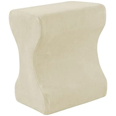Contour Products Memory Foam Leg Pillow with Cover, Cream