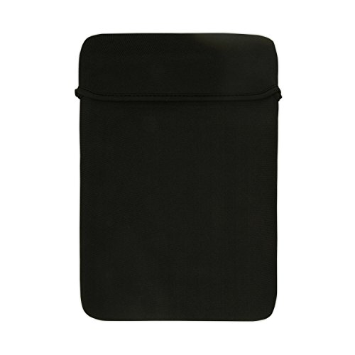 TOP CASE - Reversible Sleeve Bag Case Compatible with MacBook Air 13' Retina Display and Touch ID A1932 (2018 Release) & MacBook Pro 13' A1989 / A1706 / A1708 (Release 2018, 2017, 2016) - Black