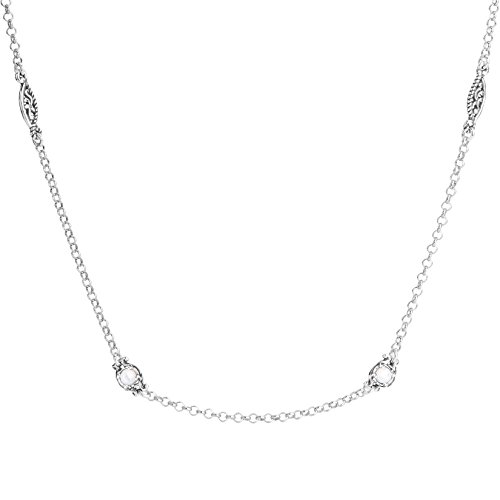 Simply Fabulous Sterling Silver & White Mother of Pearl 32 Inch Necklace by Carolyn Pollack