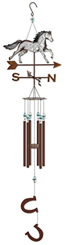 Chime Horse Wind (Sunset Vista Horse Chime Outdoor Decor)