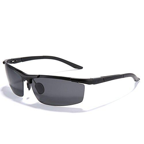 gafas de mens polarizadas guía en UV400 nero de de Moda Gafas protección Il magnesio aluminio aleación TIANLIANG04 hombres de rojo zApq55