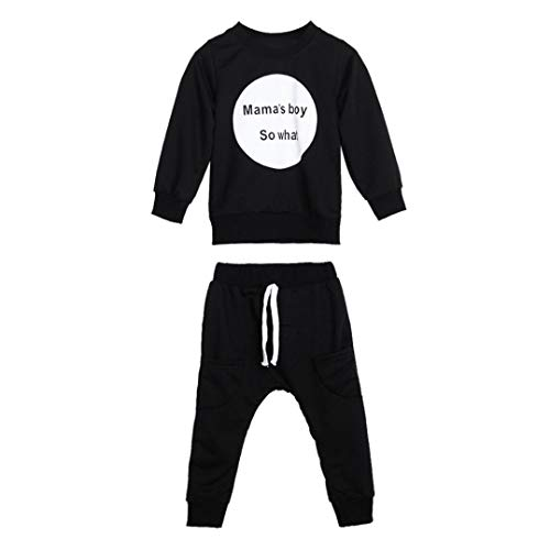 Toddler Infant Baby Boys Outfit Long Sleeve T-Shirt Tops Sweatsuit Pants Outfit Set
