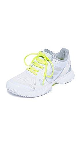 adidas Performance Women's Asmc Barricade 2017 Tennis Shoe, White/Universe/Electricity, 10 M US