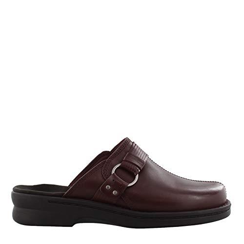 CLARKS Womens Patty Lorene Clog Shoes, Burgundy Leather, US 9 W US