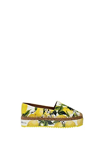 Dolce & Gabbana Womens fashien Espadrilles - Shoes EU 38, 39, 40/8 9 10 US (EU 38/8 B(M) US) Yellow