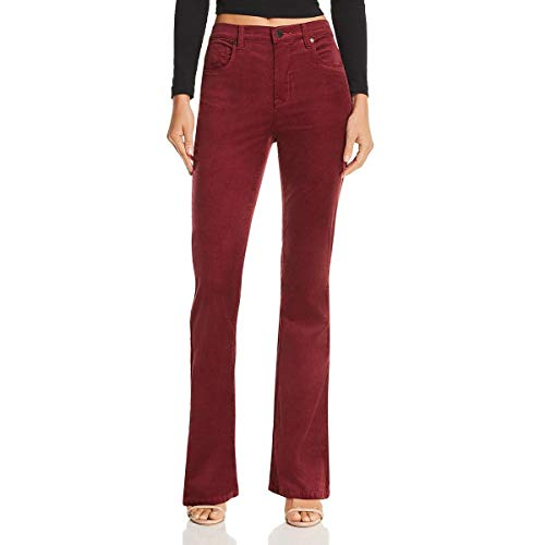 - Blank NYC Womens High-Rise Flare Corduroy Pants Red 24