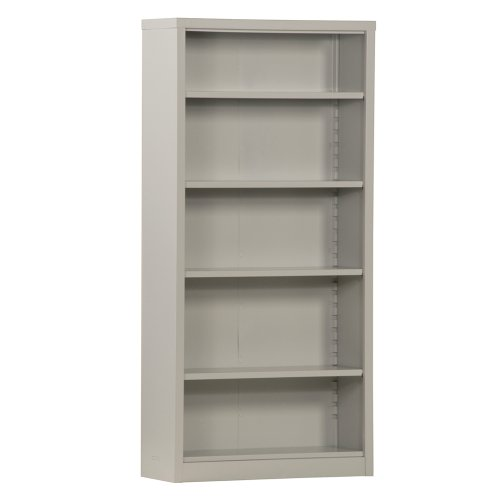 (Sandusky Lee BQ10351372-05 Dove Gray Steel Powder Coat Snapit Bookcase with 4 Adjustable Shelves, Fixed Bottom Shelf, 200 lb. Per Shelf Capacity, 72