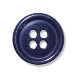 20mm Navy 4 Hole Button