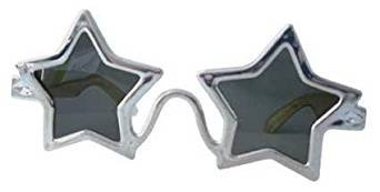 1980's Silver Star Glasses Fancy Dress - 1980 Glasses
