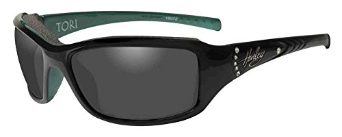 Harley-Davidson Women's Tori Gasket Sunglasses, Black/Green Stones Frame ()