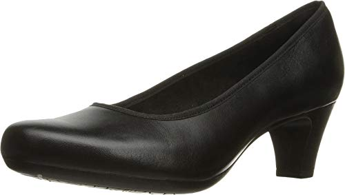 Rockport Women's Hezra Dress Pump, Black Leather, 8.5 M US