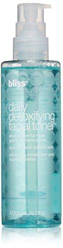 (bliss Daily Detoxifying Facial Toner | Effective Toner, Light Moisturizer, & Makeup Primer | With Rose Water, Sodium Hyaluronate, & Malachite Extract | Alcohol Free | 6.7 fl. oz)