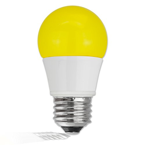 TCP 5W Equivalent LED Yellow Bug Light Bulbs, Non-Dimmable - Yellow Bug Light Bulb