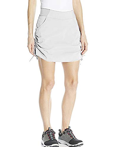 (Women's Active Athletic Anytime Skorts with Underneath Shorts Lightweight Quick Dry Workout Skirt with Pocket White Size)