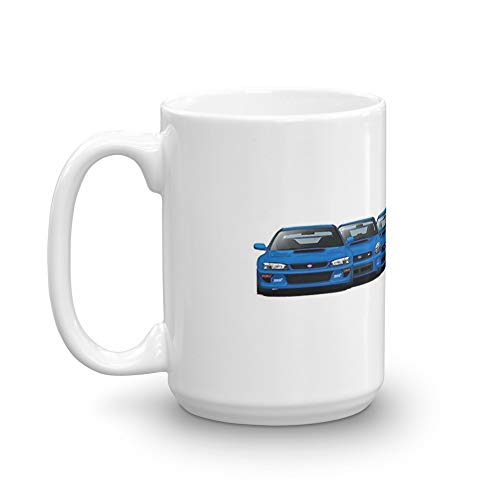 Subaru WRX STi generations - V1. 15 Oz Coffee Mugs With Easy-Grip Handle, Suitable For Hot And Cold Drinks. Can Be Used For Home And - Subaru Mug