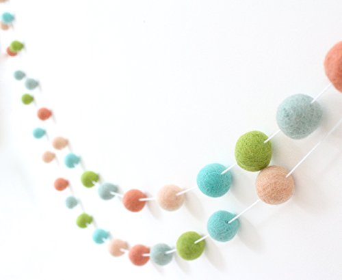 "Used, ""Spring Has Sprung"" Handmade Felt Ball Garland by Sheep for sale  Delivered anywhere in USA"